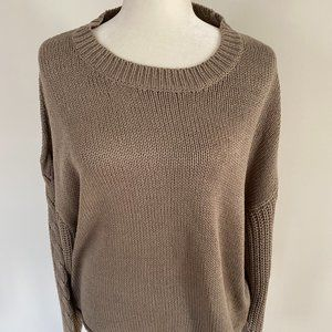 RDI BNWT sweater cable knit sleeves women XLarge